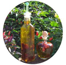 Olio con peperoncino piccante