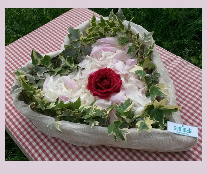 Un cuore di fiori delicati e profumati per la mamma, Seminala