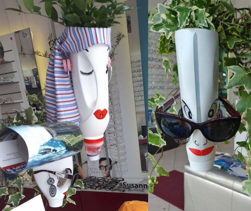 Riciclo creativo plastica, Seminala e Susanna Ottica